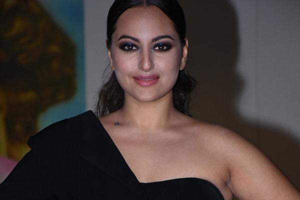 Mumbai: Actress Sonakshi Sinha during actress Saiee Manjrekar's birthday celebrations in Mumbai on Dec 23, 2019. (Photo: IANS)