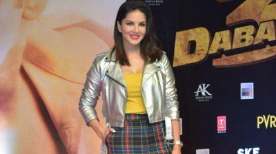 "Mumbai: Actress Sunny Leone at the screening of the upcoming film ""Dabangg 3"" in Mumbai on Dec 19, 2019. (Photo: IANS)"