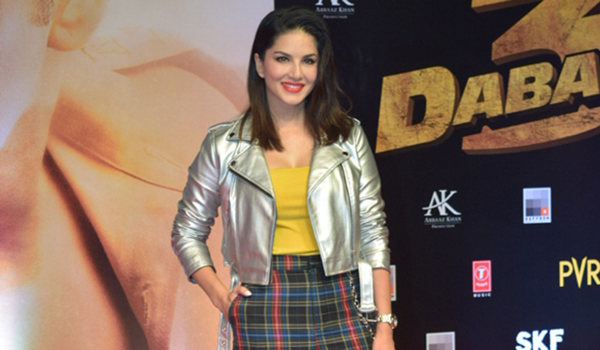 "Mumbai: Actress Sunny Leone at the screening of the upcoming film ""Dabangg 3"" in Mumbai on Dec 19, 2019. (Photo: IANS)"