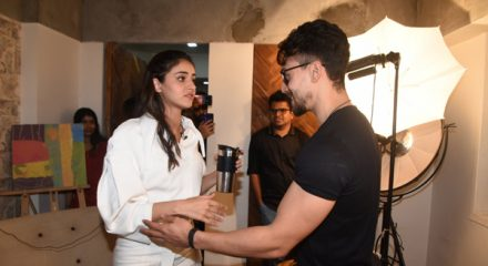 Mumbai: Actors Ananya Pandey and Tiger Shroff seen at the office of Kwan Entertainment in Mumbai on Dec 18, 2019. (Photo: IANS)