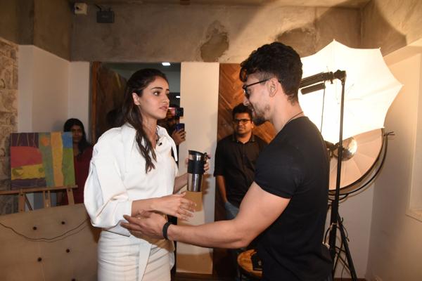 Mumbai: Actors Ananya Pandey and Tiger Shroff seen at the office of Kwan Entertainment in Mumbai on Dec 18, 2019. (Photo: IANS)