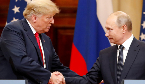 A shaky Trump suspects Russian interference in US elections, which Russia denies