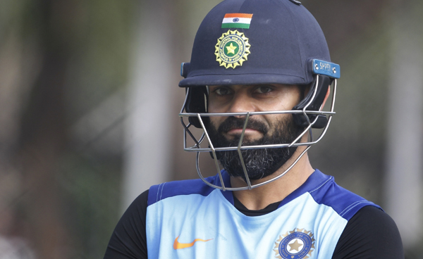 Hyderabad: Indian skipper Virat Kohli during a practice session ahead of the first Twenty20 match against West Indies at Rajiv Gandhi International Cricket Stadium in Hyderabad on Dec 5, 2019. (Photo: Surjeet Yadav/IANS)