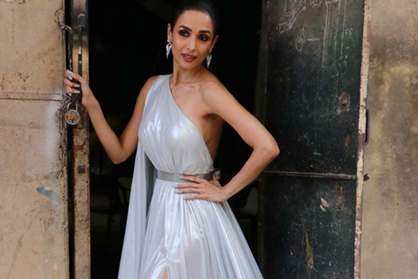 Actress Malaika Arora seen at filmistan in Mumbai,