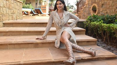 "Mumbai: Actress Sonnalli Seygall during the promotions of her upcoming film ""Jai Mummy Di"" in Mumbai on Jan 8, 2020. (Photo: IANS)"