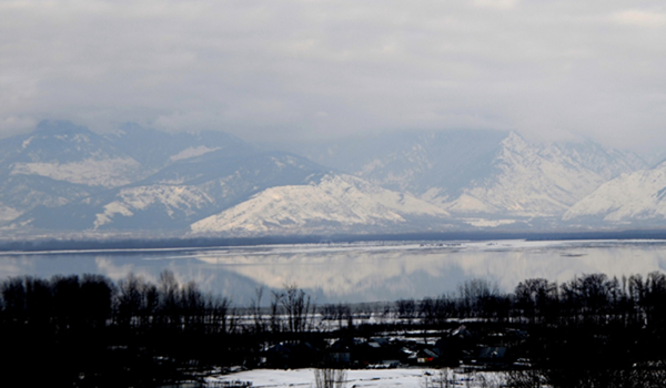 Bandipora: A view of Wular Lake in Jammu and Kashmir's Bandipora district on Jan 18, 2020. (Photo: IANS)