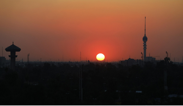 BAGHDAD, Jan. 7, 2020 (Xinhua) -- Photo taken on Jan. 7, 2020 shows the skyline in Baghdad, capital city of Iraq. Baghdad is under the spotlight after Iranian general Qassem Soleimani, former commander of the Quds Force of Iran's Islamic Revolution Guards Corps, was killed in a U.S. airstrike near Baghdad International Airport on Jan. 3. (Xinhua/Zhang Miao/IANS)