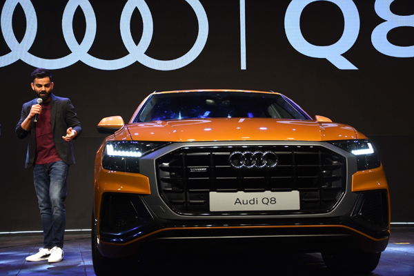 Mumbai: Indian skipper Virat Kohli addresses at the launch of Audi Q8 in Mumbai on Jan 15, 2020. (Photo: IANS)