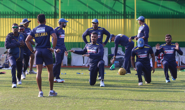 Guwahati: Sri Lankan players during a practice session ahead of the T20I match between India and Sri Lanka, at Barsapara Cricket Stadium in Guwahati on Jan 4, 2020. (Photo: Surjeet Yadav/IANS)