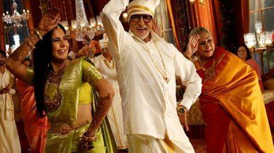 Mumbai: Actors Amitabh Bachchan, Katrina Kaif and Jaya Bachchan during Kalyan Jewellers ad shoot in Mumbai on Jan 24, 2020. (Photo: IANS)