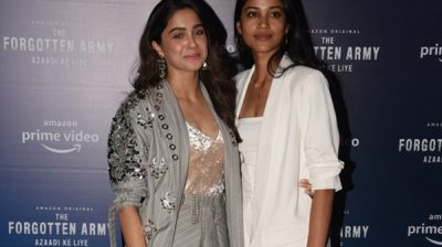 """Mumbai: Actors Sharvari Wagh and TJ Bhanu during the trailer launch of their upcoming film """"The Forgotten Army"""" in Mumbai on Jan 7, 2020. (Photo: IANS)"""