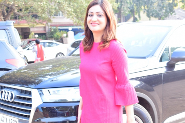 Actress Yami Gautam's sister Surilie Gautam seen at Versova