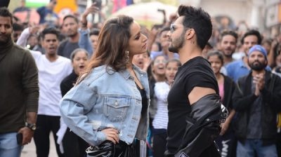 "New Delhi: Actors Shraddha Kapoor and Varun Dhawan at the launch of the song ""Illegal Weapon 2.0"" from their upcoming film ""Street Dancer 3D"" in New Delhi on Jan 4, 2020. (Photo: IANS)"