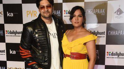 "Mumbai: Actors Ali Fazal and Richa Chaddha at the screening of the film ""Chhapaak"" in Mumbai on Jan 8, 2020. (Photo: IANS)"