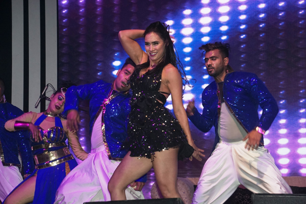 "New Delhi: Dancer Lauren Gottlieb performs at the opening ceremony of ""Experience One"". (Photo: IANS)"