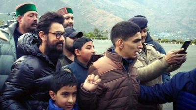 "Shimla: Actor Aamir Khan arrives in Shimla for the shooting of his upcoming film ""Laal Singh Chaddha"" on Jan 4, 2020. (Photo: IANS)"