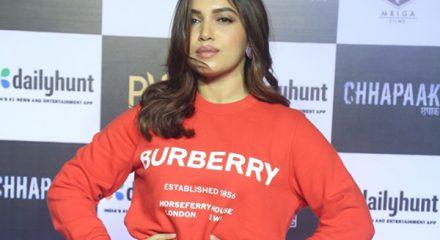 """Mumbai: Actress Bhumi Pednekar at the screening of the film """"Chhapaak"""" in Mumbai on Jan 8, 2020. (Photo: IANS)"""