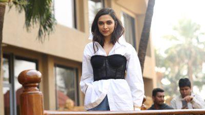 "Mumbai: Actress Deepika Padukone during the promotions of her upcoming film ""Chhapaak"" in Mumbai on Dec 30, 2019. (Photo: IANS)"