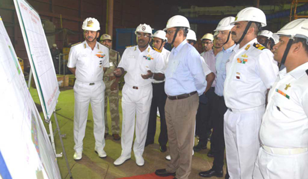 Defence Secretary reviews indigenous aircraft carrier project