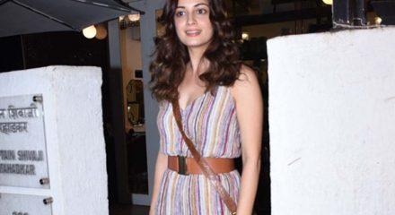 Mumbai: Actress Dia Mirza seen at a Bandra in Mumbai on Dec 30, 2019. (Photo: IANS)