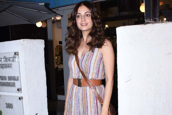Mumbai: Actress Dia Mirza seen at a Bandra in Mumbai on Dec 30, 2019. (Photo: IANS)