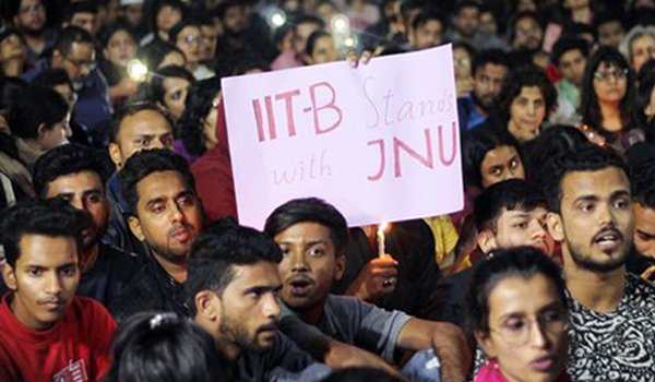 Protests in Hyderabad varsities against JNU violence
