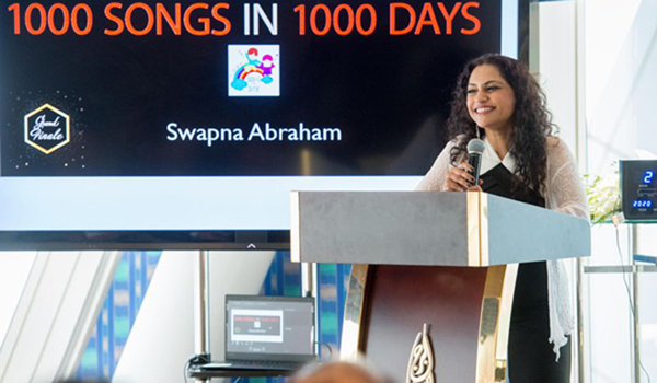 Indian expat in Dubai records 1,000 songs in 1,000 days