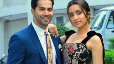 "Mumbai: Actors Varun Dhawan and Shraddha Kapoor during the promotions of their upcoming film ""Street Dancer 3D"", on the sets of reality television singing competition show Indian Idol Season 11 in Mumbai on Jan 14, 2020. (Photo: IANS)"