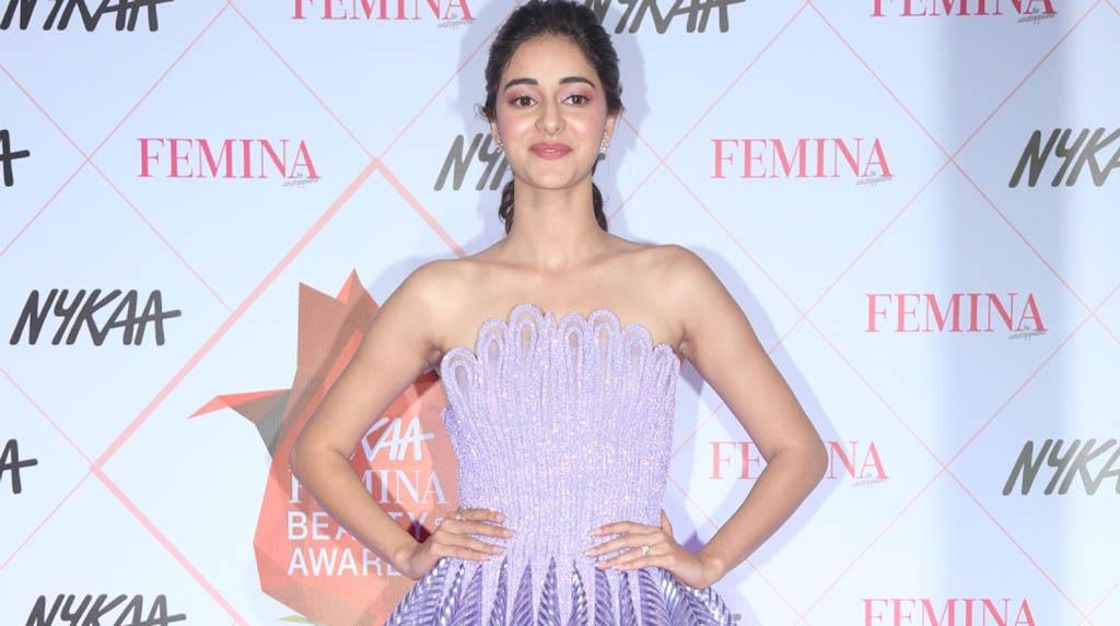 Mumbai: Actress Ananya Pandey at the Red Carpet of Femina Beauty Awards in Mumbai on Feb 19, 2020. (Photo: IANS)