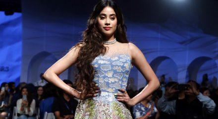 New Delhi: Showstopper Janhvi Kapoor showcases the creation of fashion designers Masaba Gupta and Kunal Rawal on Day 1 of the Lakme Fashion Week Summer/Resort 2020, in Mumbai on Feb 11, 2020. (Photo: IANS)