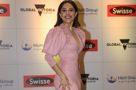 Actress Nushrat Bharucha during a programme, in Mumbai