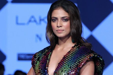 Fashion designer Malavika Mohanan walks the ramp at the Lakme Fashion Week Summer
