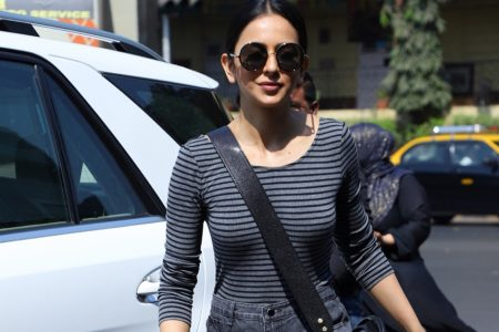 Actress Rakul Preet Singh spotted at bandra in Mumbai