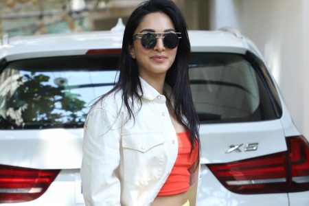 Kiara Advani seen at a dubbing studio, in Mumbai