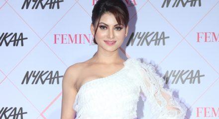 Mumbai: Actress Urvashi Rautela at the Red Carpet of Femina Beauty Awards in Mumbai on Feb 19, 2020. (Photo: IANS)