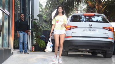 Mumbai: Actress Ananya Panday seen at the office of Maddock Films, in Mumbai on Feb 20, 2020. (Photo: IANS)