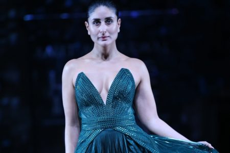 Lakme Brand Ambassador and showstopper Kareena Kapoor Khan walks the ramp showcasing an outfit