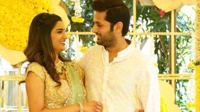 Hyderabad: Actor Nithiin and his girlfriend Shalini.