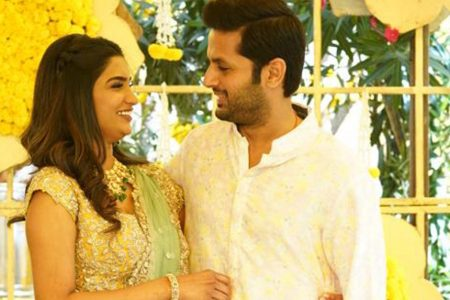 Actor Nithiin and his girlfriend Shalin