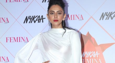Mumbai: Actress Rakul Preet Singh at the Red Carpet of Femina Beauty Awards in Mumbai on Feb 19, 2020. (Photo: IANS)