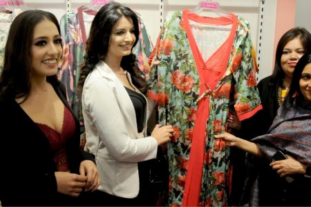 Shweta Sarangal and Nikeet Kaur Dhillon at the inauguration of a store