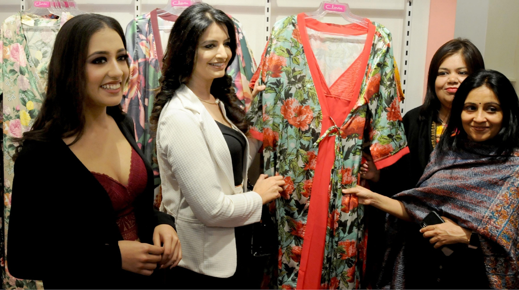 Amritsar: Actors Shweta Sarangal and Nikeet Kaur Dhillon at the inauguration of a store, in Amritsar on Feb 14, 2020. (Photo: IANS)
