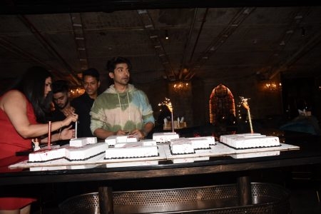 Actor Gurmeet Choudhary during his birthday celebrations in Mumbai