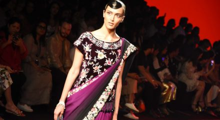 Mumbai: A model walks the ramp for fashion designer Ashdeen show on Day 2 of the Lakme Fashion Week (LFW) Summer/Resort 2020, in Mumbai on Feb 13, 2020. (Photo: IANS)
