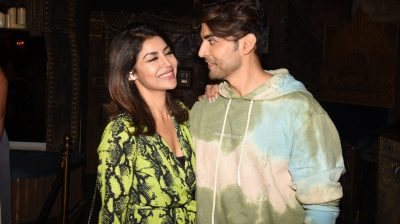 Mumbai: Actor Gurmeet Choudhary with his wife Debina Bonnerjee during his birthday celebrations in Mumbai on Feb 22, 2020. (Photo: IANS)