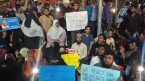 Flash protests in Hyderabad against Delhi violence