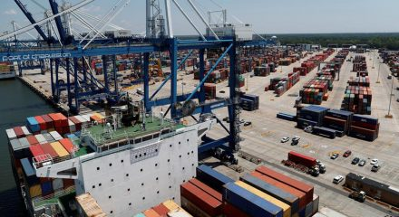 US trade deficit declines for 1st time in 6 yrs