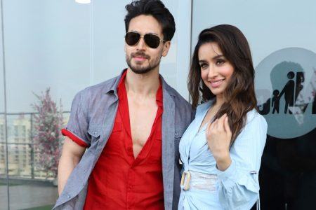 Shraddha Kapoor and Tiger Shroff seen at filmmaker Sajid Nadiadwala's office