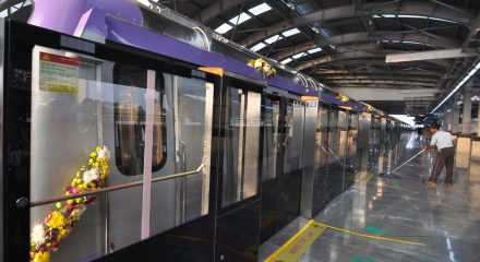 Kolkata: Inauguration of Phase-1, East West Metro between Salt Lake Sector-V to Salt Lake Stadium in Kolkata on Feb 13, 2020. (Photo: Kuntal Chakrabarty/IANS)