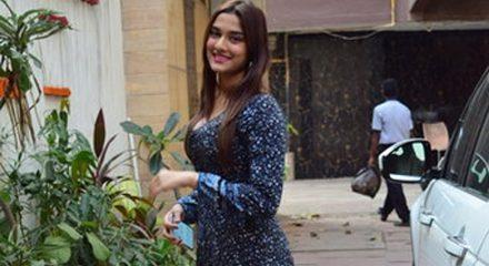 Mumbai: Actress Saiee Manjrekar seen at Juhu in Mumbai on March 16, 2020. (Photo: IANS)